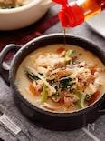 崩し豆腐ともやしの坦々風ごま味噌スープ【#1品満足ご飯】