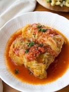 『ロールキャベツのトマト煮込み』#自家製トマトソース#春