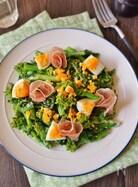 菜の花とゆで卵のホットサラダ