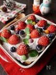 いちごクリーム&いちごたっぷりスコップケーキ