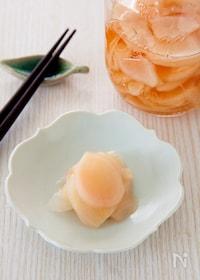 『新生姜の甘酢漬け(自家製ガリ)』