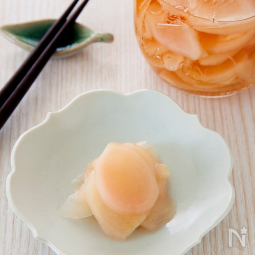 新生姜の甘酢漬け(自家製ガリ)