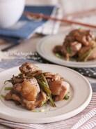 味付け冷凍で平日を楽にする♡鶏肉といんげんのバタぽん焼き♡