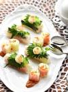 野菜の生春巻きと鯛の花飾り春巻き〜二種の風味〜