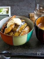 豚肉と茄子の生姜焼き丼