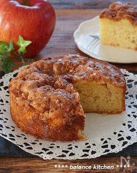 混ぜるだけでふわふわしっとり!りんごのシナモンシュガーケーキ