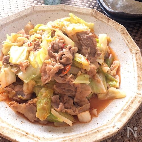 子供も喜ぶ‼️絶品節約レシピ♡豚ばらとキャベツの韓国風炒め