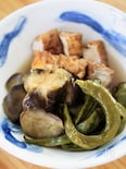 茄子と絹揚げの田舎煮(ストウブ料理)