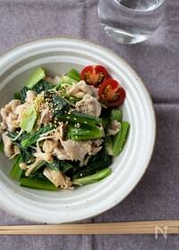 『『豚しゃぶと小松菜とえのきの中華ごま和え』#簡単#ヘルシー』