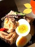 ぶつ切り鶏と赤芽の親芋のだし含め煮 作り置き