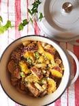 鶏と薩摩芋の韓国風胡麻煮