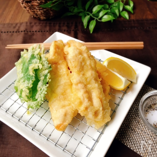 生姜をたっぷり♪鶏むね肉の塩天ぷら