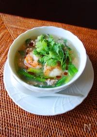『海老のエスニック風春雨スープ』
