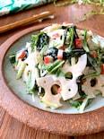 簡単美味しいヘルシー【れんこんとわかめのシャキツルサラダ】