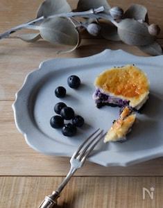 ミニブルーベリーチーズケーキ
