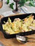 夏におすすめ♪簡単!鶏むねとアスパラのレモンマヨチーズ焼き
