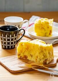 『レンジとタッパーで簡単♡かぼちゃ蒸しパン』