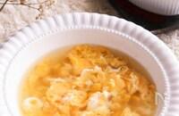 ふんわり食感が美味しい♡たまごととうもろこしの中華風スープ