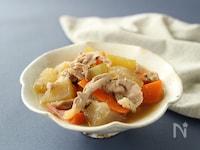 冬瓜と豚こまの甘味噌煮★フライパンで煮物♪