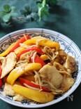 ちょこっとエスニックが美味♡鶏むね肉とパプリカのカレー炒め
