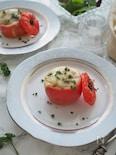 トマトのファルシ(肉詰め)