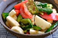 ポリ袋で!長芋ときゅうりとトマトのおかかぽん酢漬け