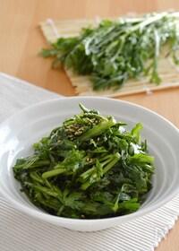 『簡単!春菊の中華風サラダ。生の春菊をポン酢とごま油で♪』