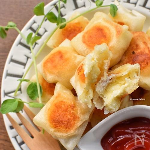 むっちゃ旨し♡焼き方色々♡ポテト+チーズの包み焼き♡