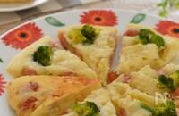 ふんわり♡米粉のウインナーパンケーキ!卵不使用・超簡単☆