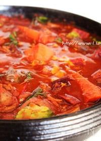 『すき焼き鍋で少ないスパイスでポルシチ風 』