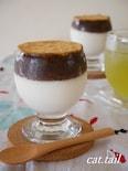 低糖質粒あんを添えて♪『甘酒豆乳ヨーグルトゼリー』