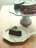 チョコレート・バター―・乳製品不使用♪黒ごまのガトーショコラ