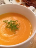 にんじんとお米のモチっとスープ