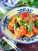【やみつき鶏チリ】鶏むね肉とピーマンのピリ辛チリソース