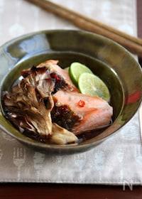 『舞茸と鮭の焼き浸し。』