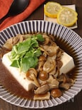 癒される味♪なめこと豆腐のとろみ煮