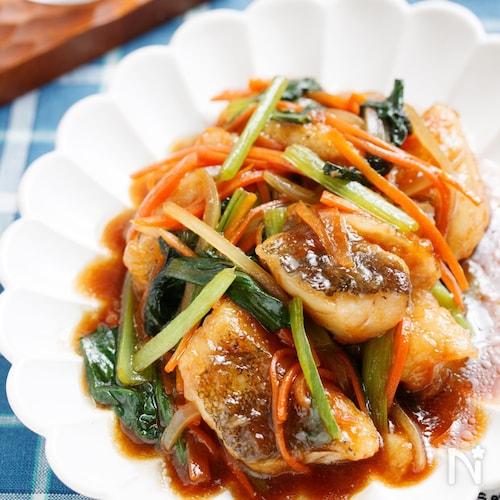 たらの中華風♡たっぷり野菜あんかけ【#とろみづけ不要】