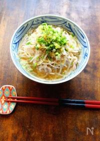 『【糖質オフ】キャベツ麺の味噌ラーメン』