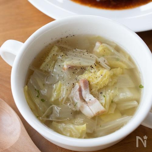 『白菜とベーコンの洋風スープ』#白菜消費#簡単