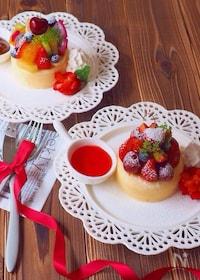 『いつもの厚焼きパンケーキがある方法で更にしっとりふっわふわ♡』