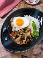 ごはんが進むアジア飯『豚バラ肉で作るガパオライス』