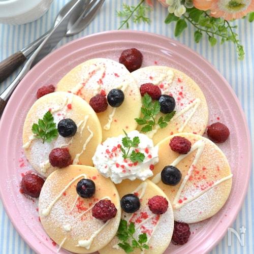 米粉100%乳製品不使用のグルテンフリーパンケーキ