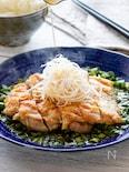 にらソースで食欲倍増!香りと音♫が楽しい鶏肉の香味焼き