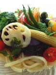 野菜たっぷり冷やしカレーうどん