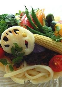『野菜たっぷり冷やしカレーうどん』