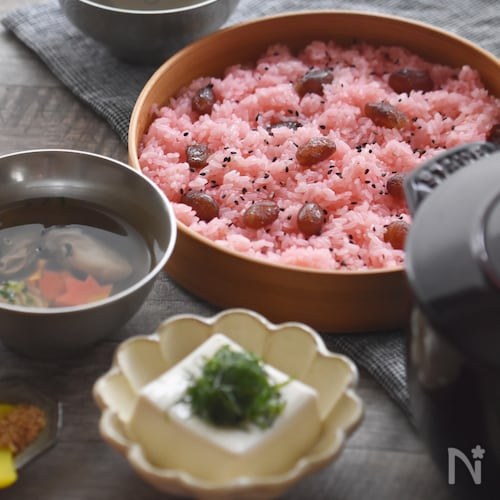 【STAUB】失敗知らず♪もち米100%の炊き方〜お赤飯