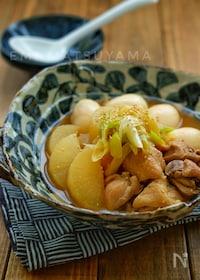 『簡単!ほっこり!*鶏肉と大根と卵の煮物*めんつゆで簡単!』