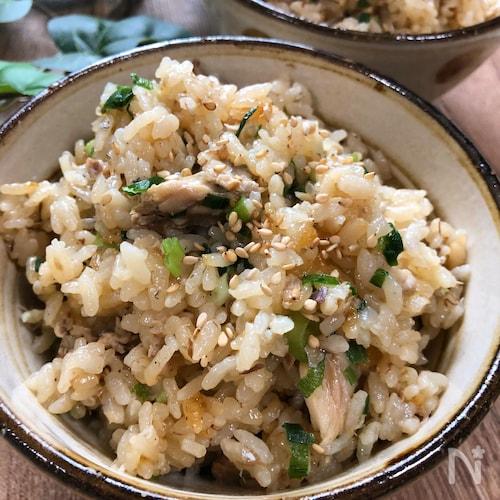 鯖缶で簡単!鯖とネギの炊き込みご飯☆