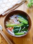 【1週間献立用】小松菜とかにかまのお吸い物