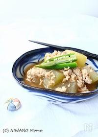 『冬瓜の鶏そぼろ煮』